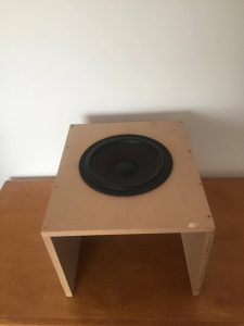 subwoofer burn in baffle 2