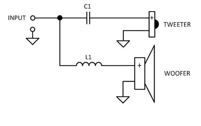 Passive crossover schematic most types Audio Judgement