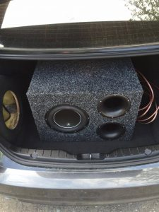 finished high output subwoofer enclosure