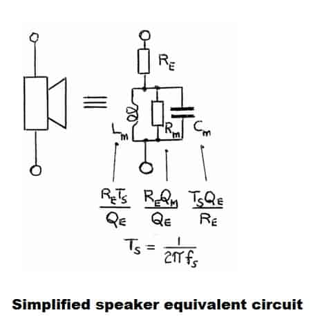speaker equivalent circuit    electrical model