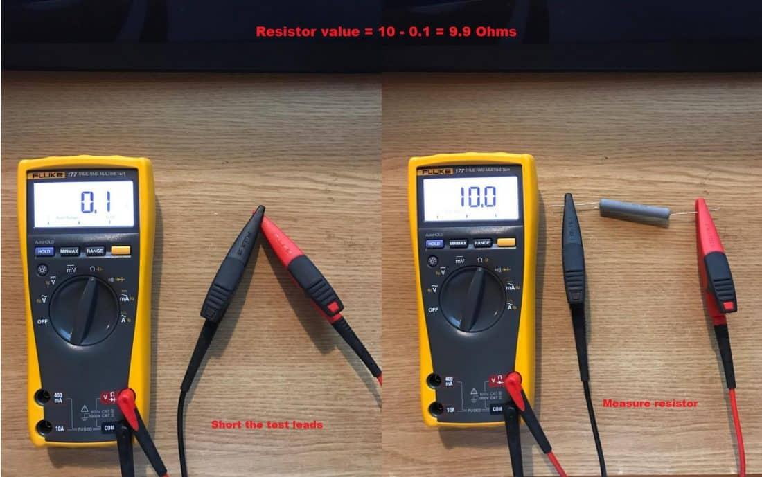 measure the resistor