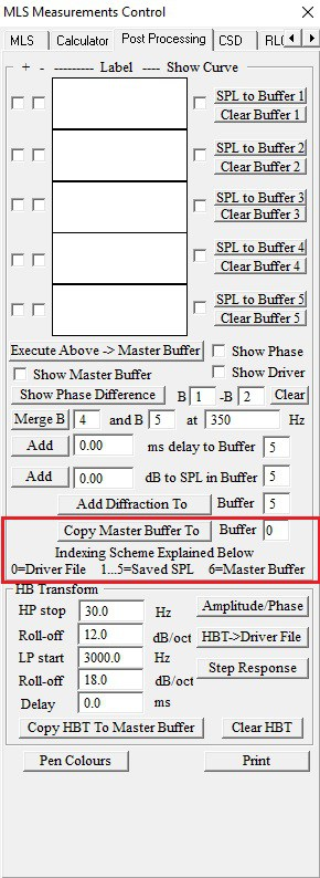 master buffer to driver file