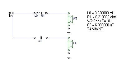 1st order butterworth passive crossover