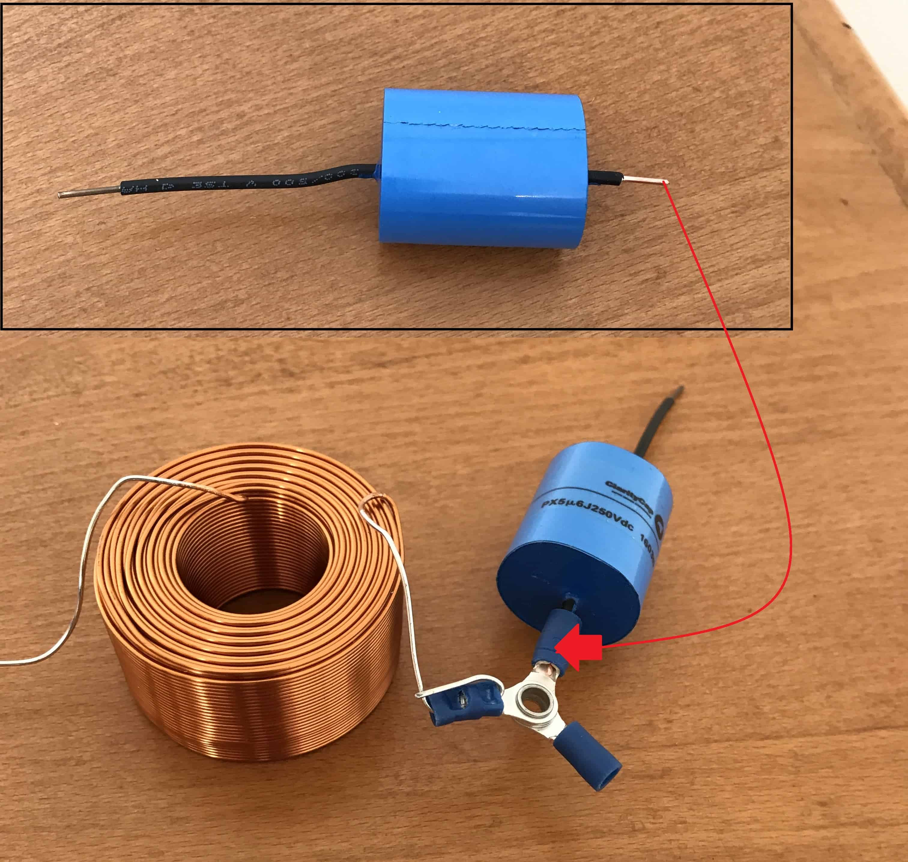 How To Build A Passive Crossover Network Audio Judgement Circuit For An Inductor Can Be Comprised Of Coils Wire Trim One End The Capacitor And Crimp It Connector Also 3rd Positive