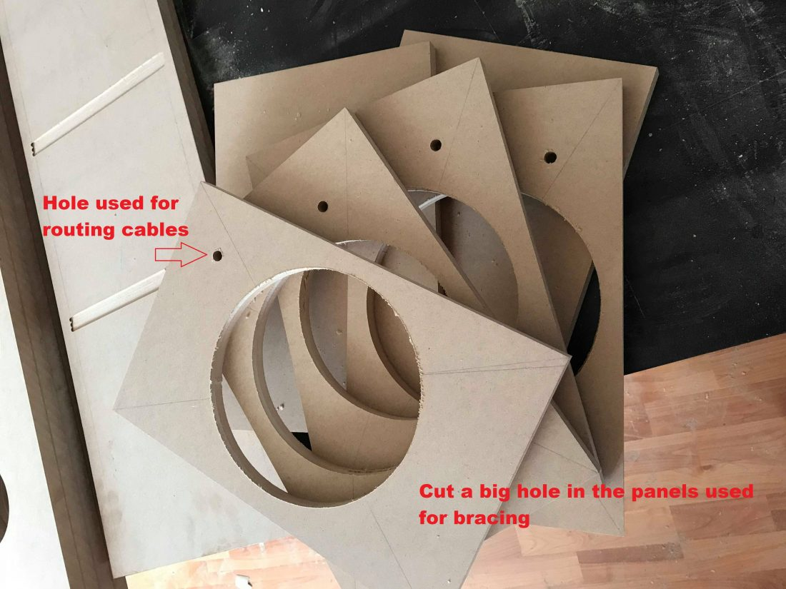 speaker enclosure braces