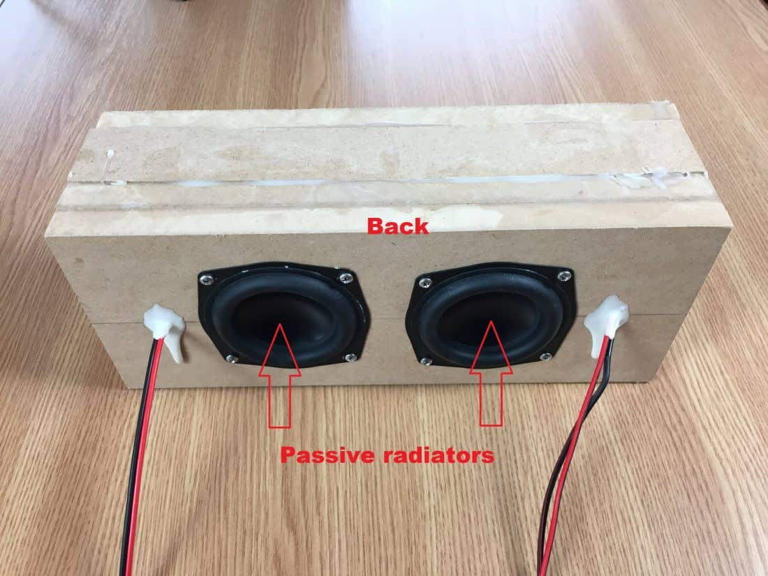 back portable speaker