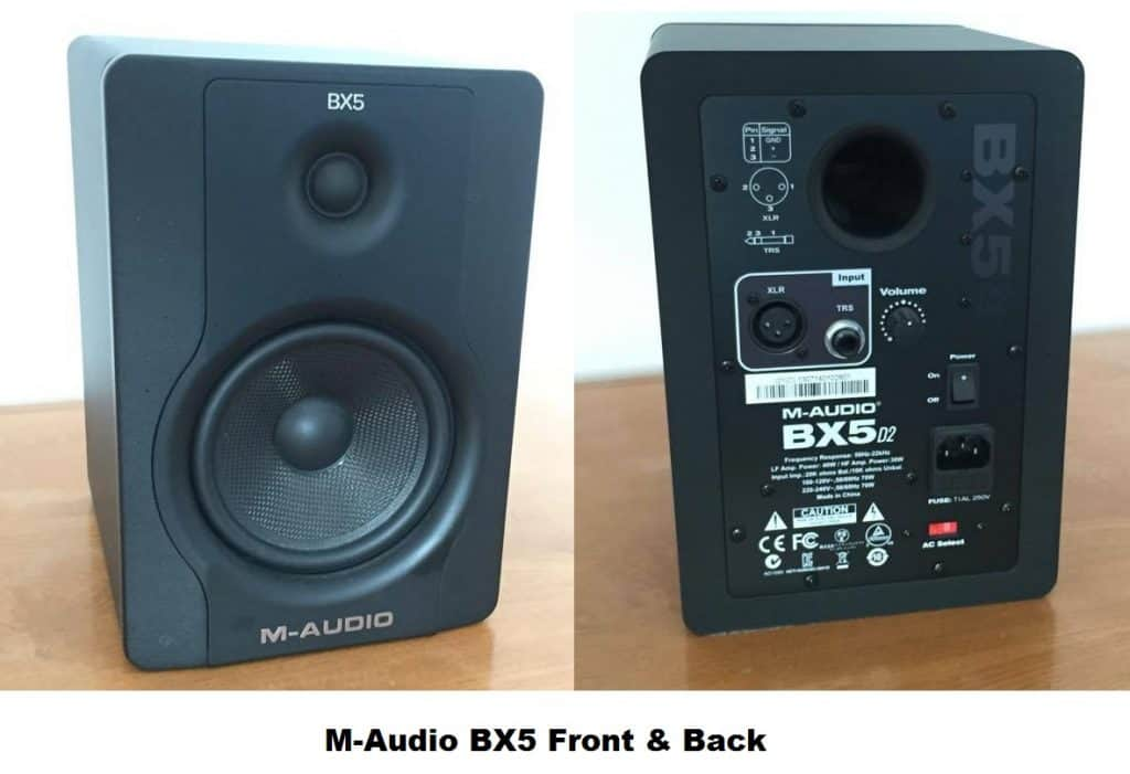 M-Audio BX5 front and back