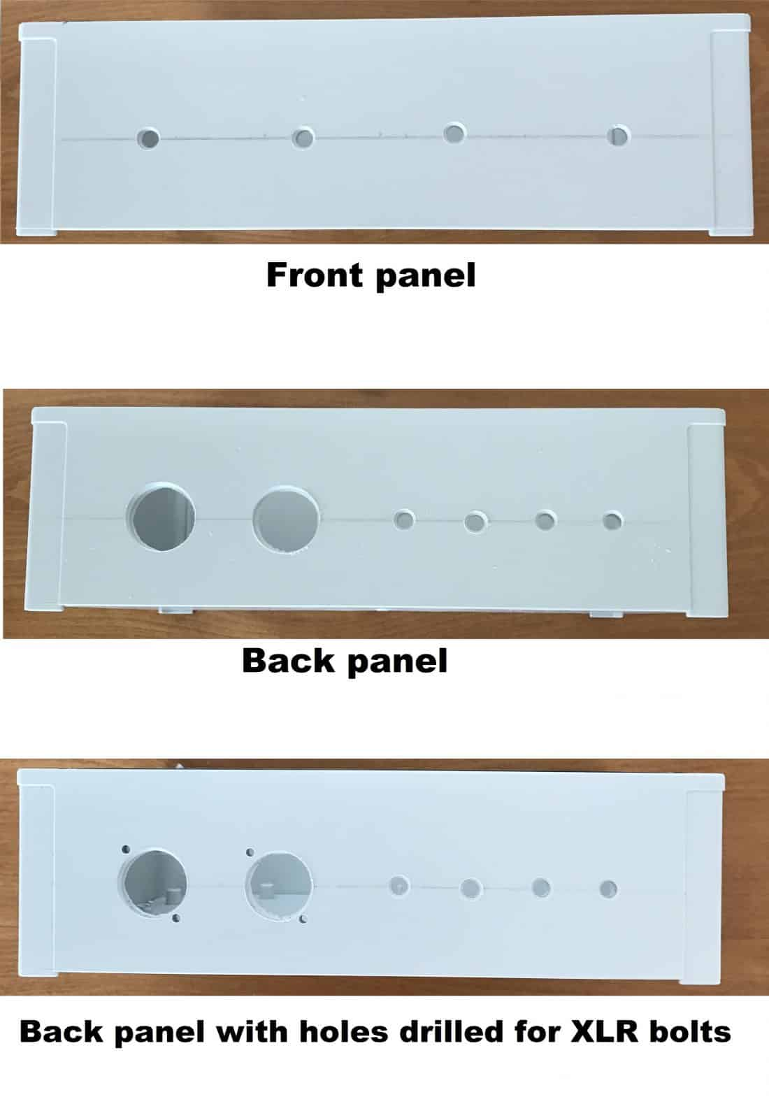 front and back box panel