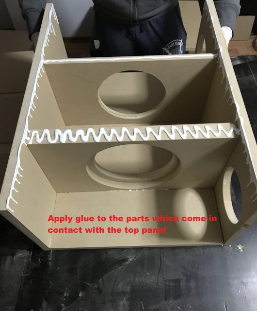 glue for top panel