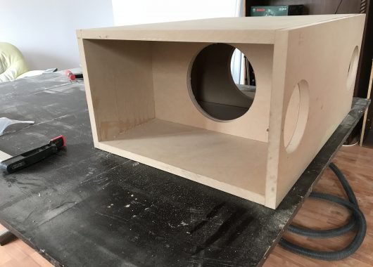 partially finished box 3