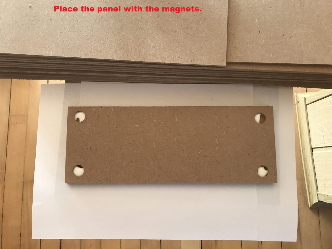 2nd panel with magnets