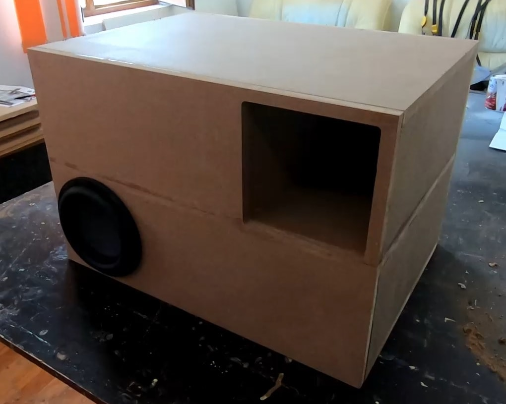 DIY transmission line subwoofer box