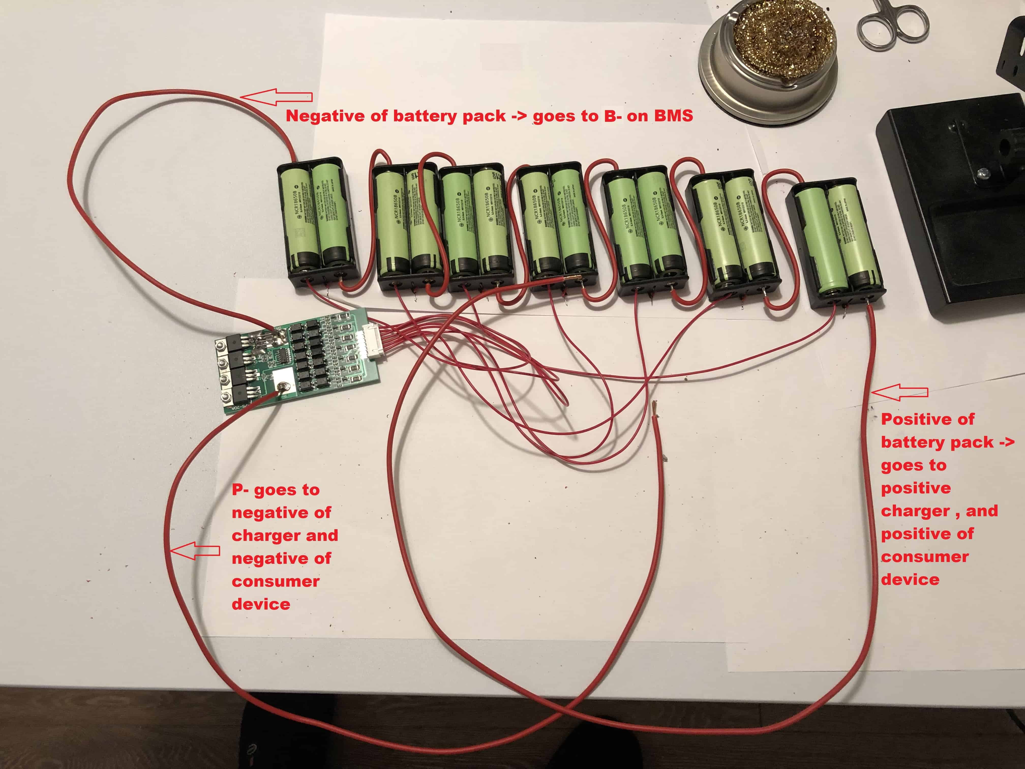 Battery pack without spot welder