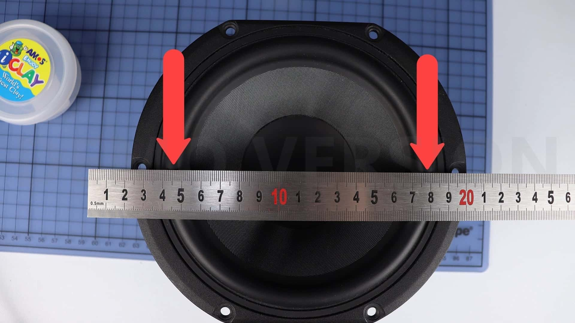 measure speaker diameter
